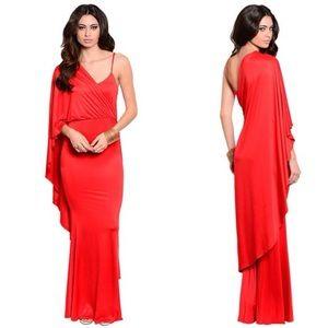 Dresses & Skirts - Red Elegant Maxi Dress
